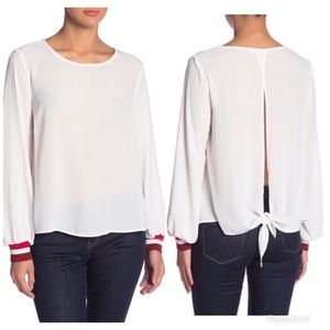 Lush Open back blouse New with tags